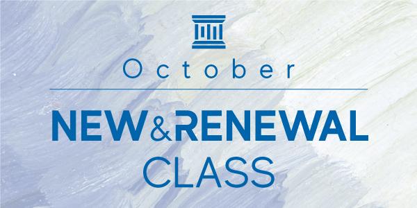 10月〜New&Renewal Class Infomation